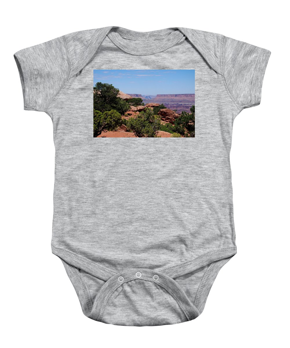 Canyonlands Baby Onesie featuring the photograph By The Canyon by Dany Lison