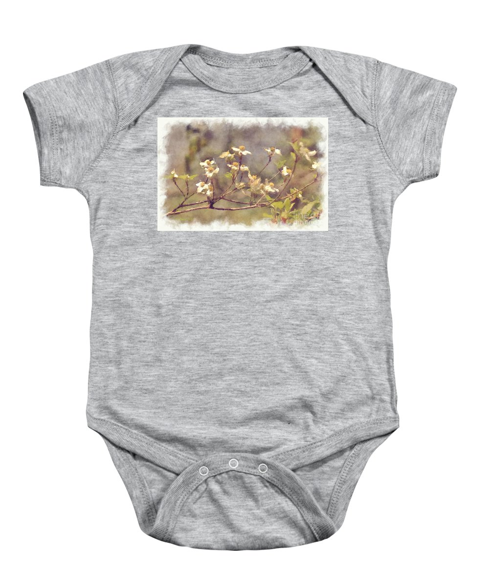 Flowers Baby Onesie featuring the photograph Dogwood by Donna Bentley