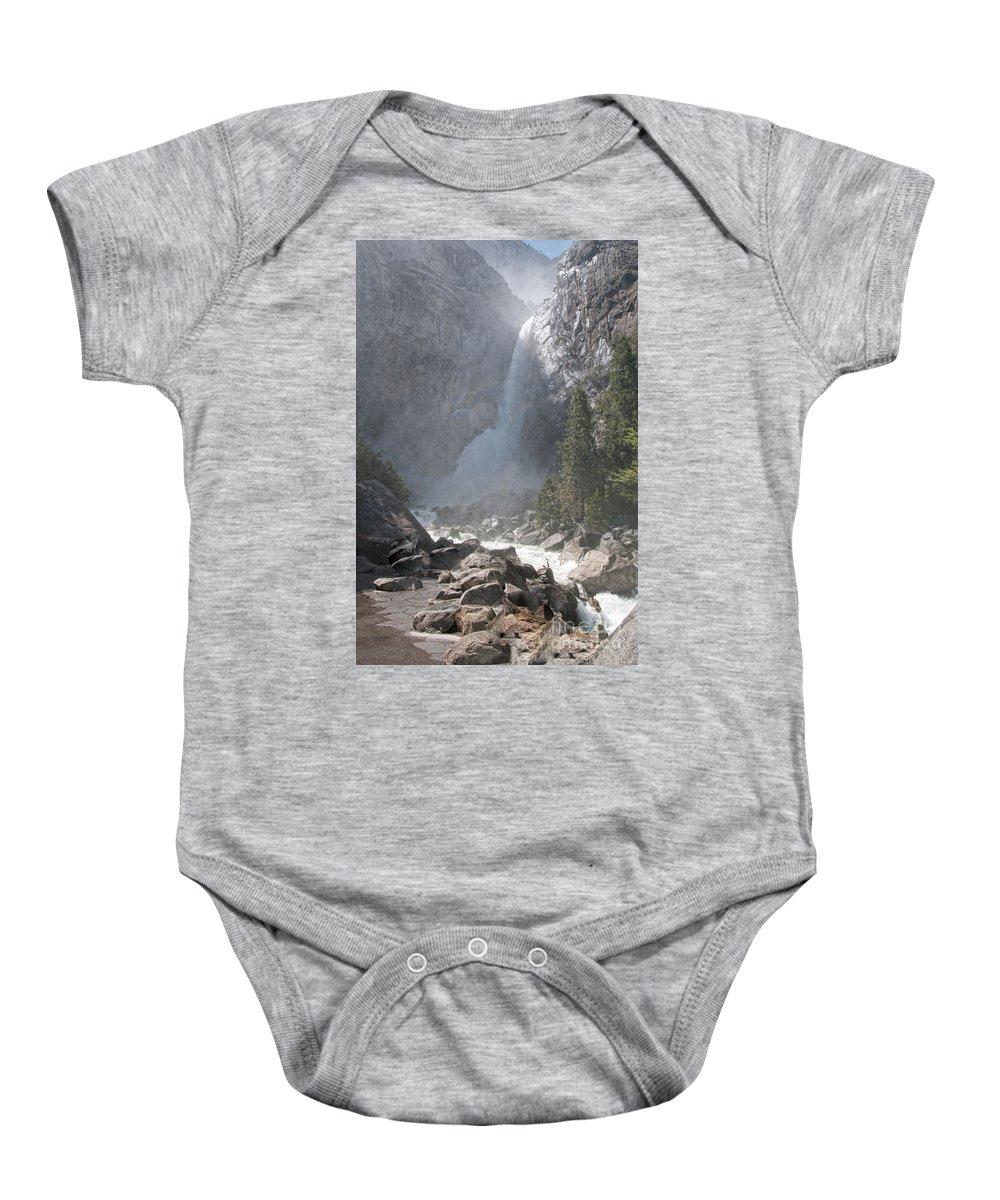 California Baby Onesie featuring the digital art Yosemite by Carol Ailles