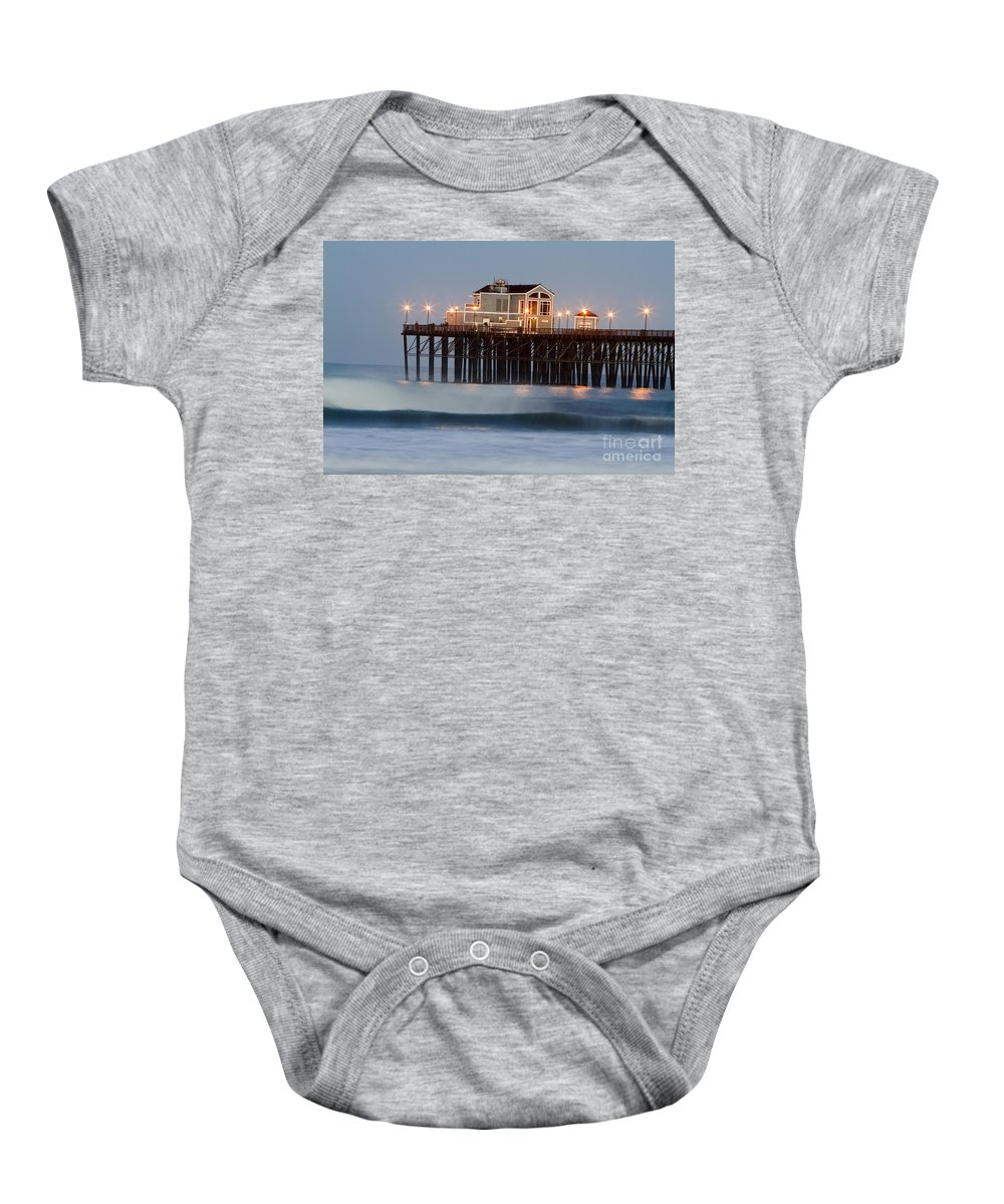 Oceanside Baby Onesie featuring the photograph 8039 by Daniel Knighton