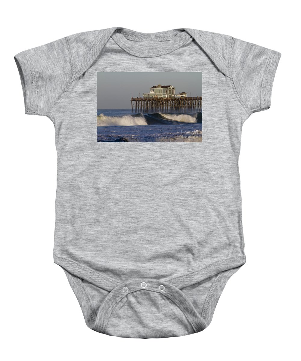 Oceanside Baby Onesie featuring the photograph 8047 by Daniel Knighton