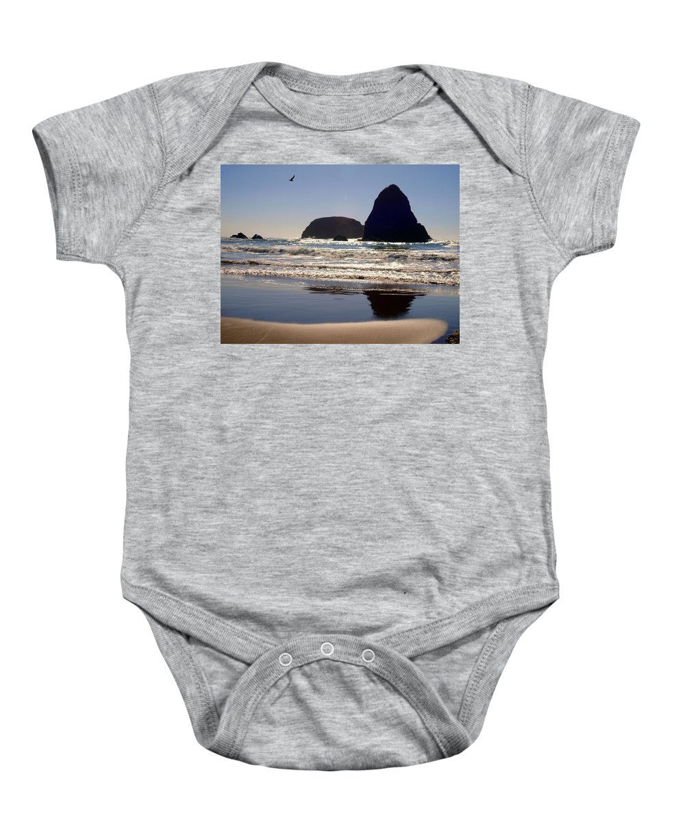 Water Baby Onesie featuring the photograph A Birds Eye View by Teri Schuster