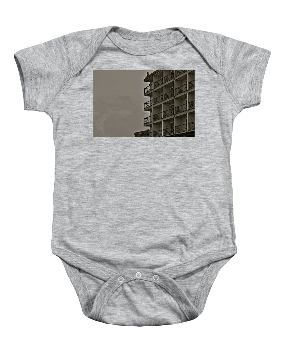 Hotel Baby Onesie featuring the photograph A Certain Order by Eric Tressler