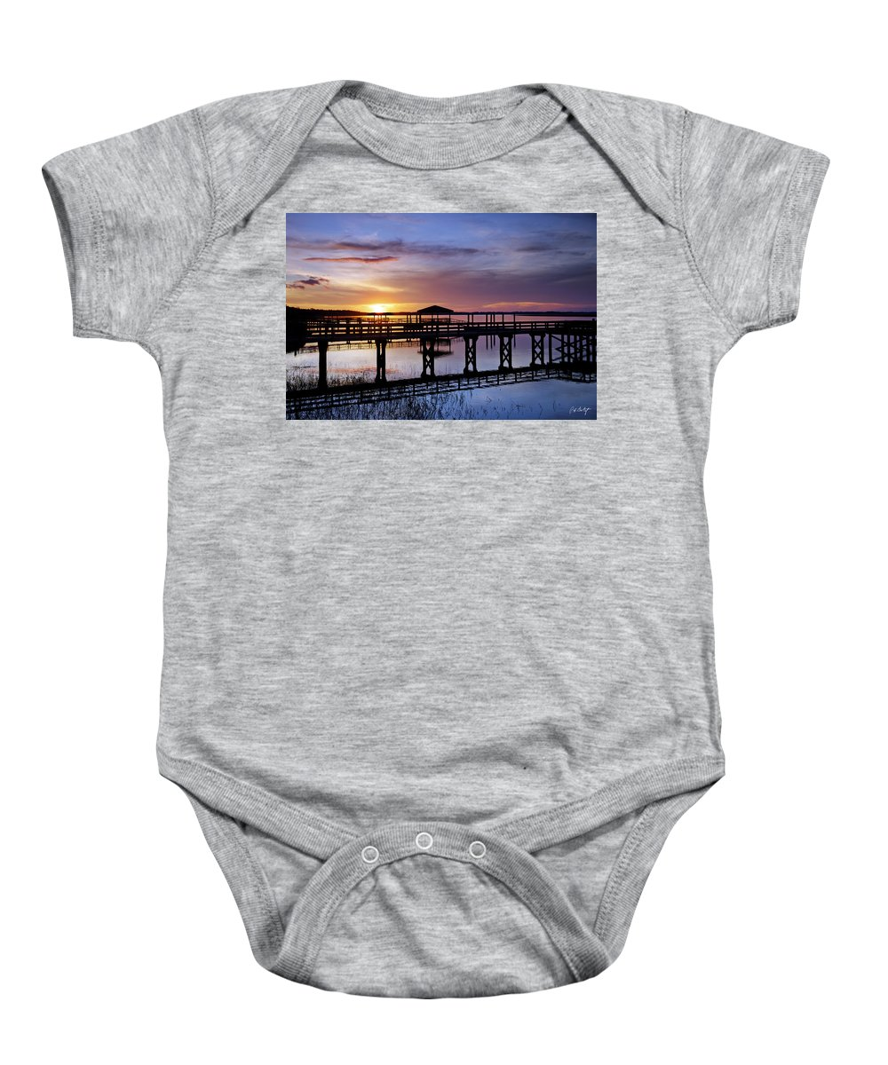 Beaufort County Baby Onesie featuring the photograph A December Sky by Phill Doherty