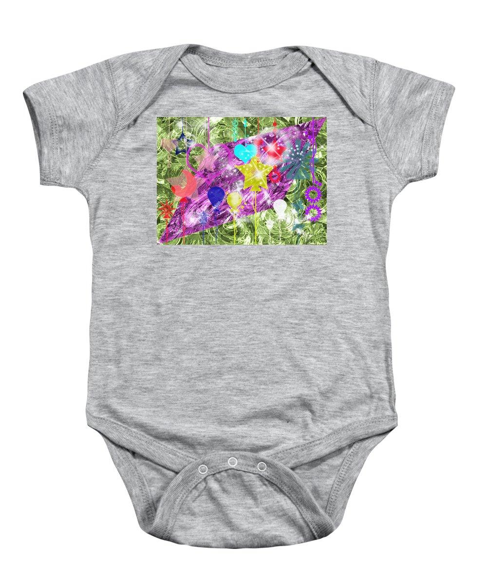 Digitalart Baby Onesie featuring the digital art A Little Fun by Debbie Portwood