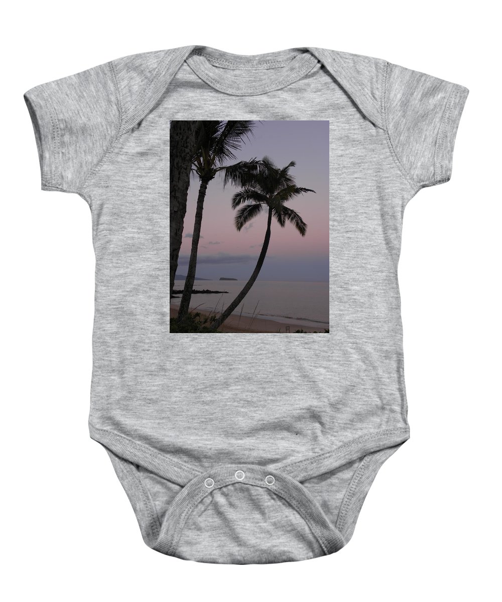 Palm Trees Baby Onesie featuring the photograph A Peaceful Start by Peggy McDonald