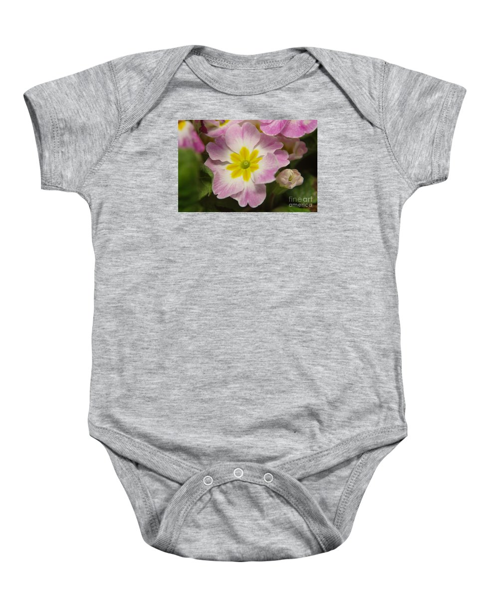 Flowers Baby Onesie featuring the photograph A Shy Flower by Jeff Swan