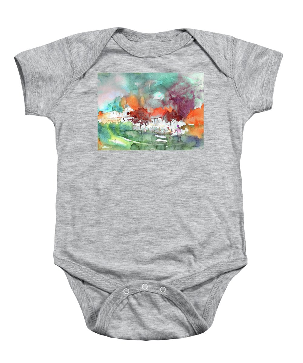Landscapes Baby Onesie featuring the painting A Town On Planet Goodaboom by Miki De Goodaboom