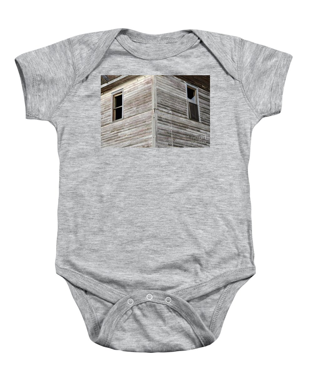 Windows Baby Onesie featuring the photograph Abandoned Building 2 by Bob Christopher
