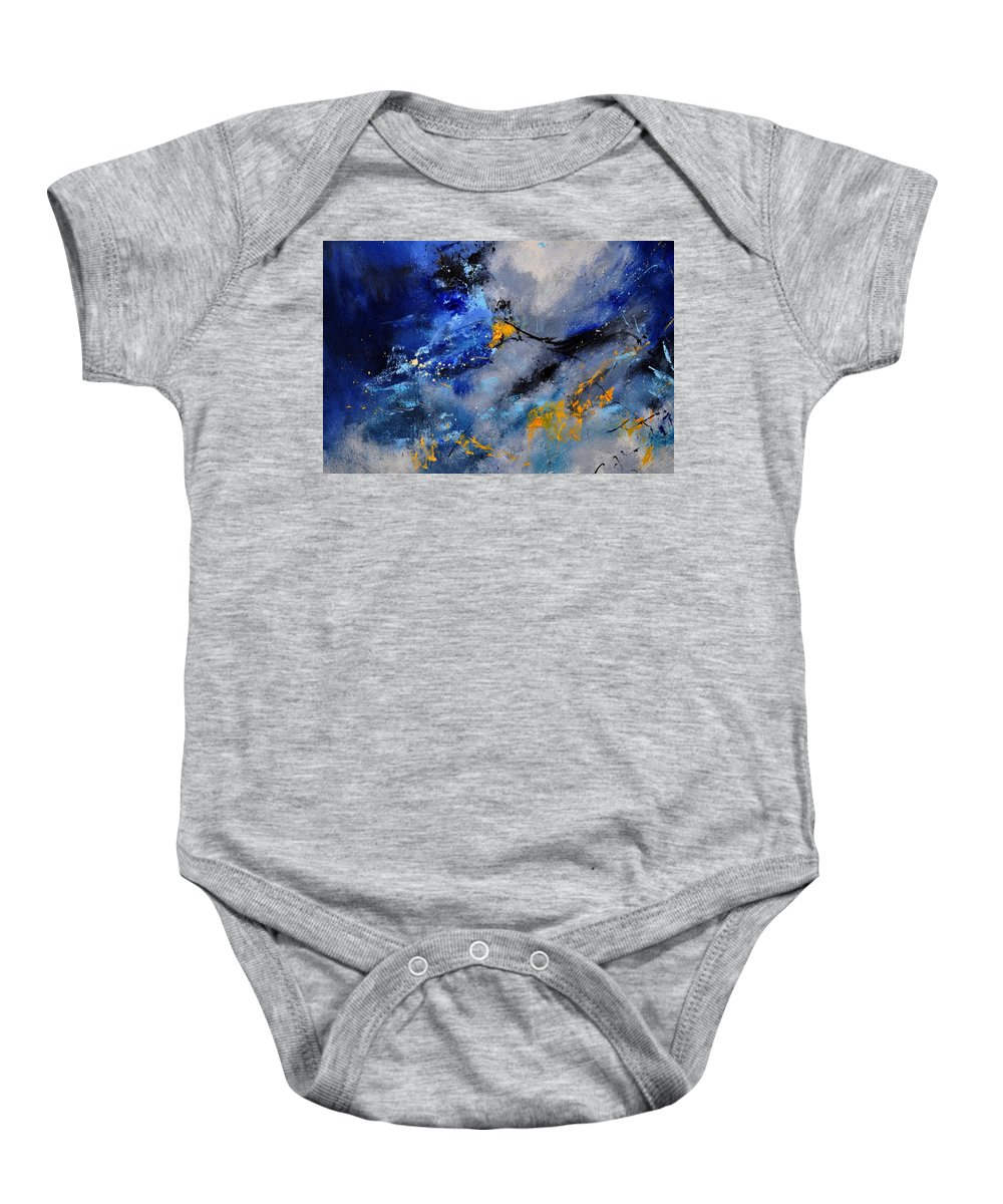 Abstract Baby Onesie featuring the painting Abstract 771190 by Pol Ledent