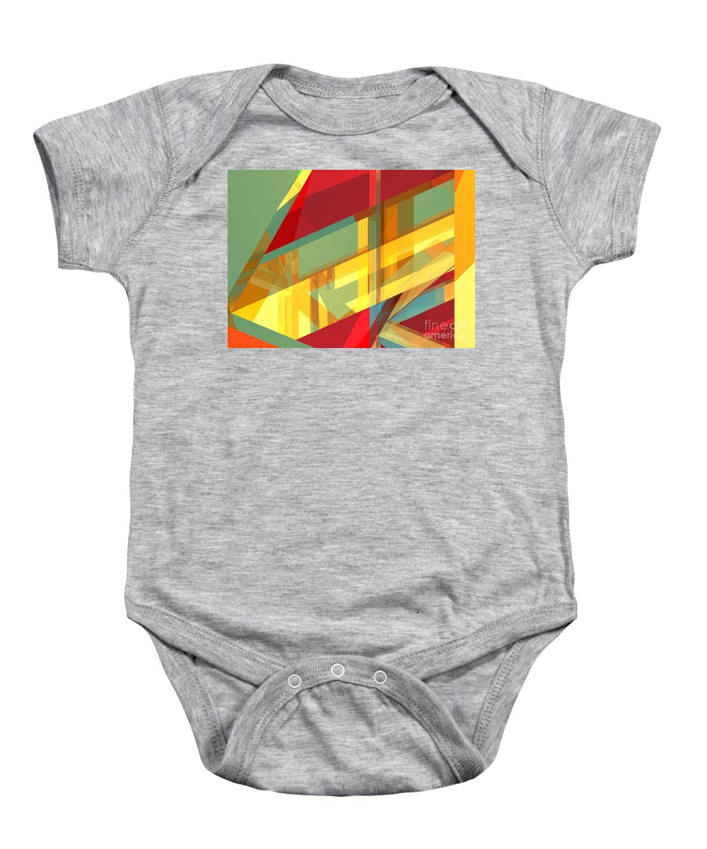 Abstract Baby Onesie featuring the digital art Abstract Tan 9 by Russell Kightley