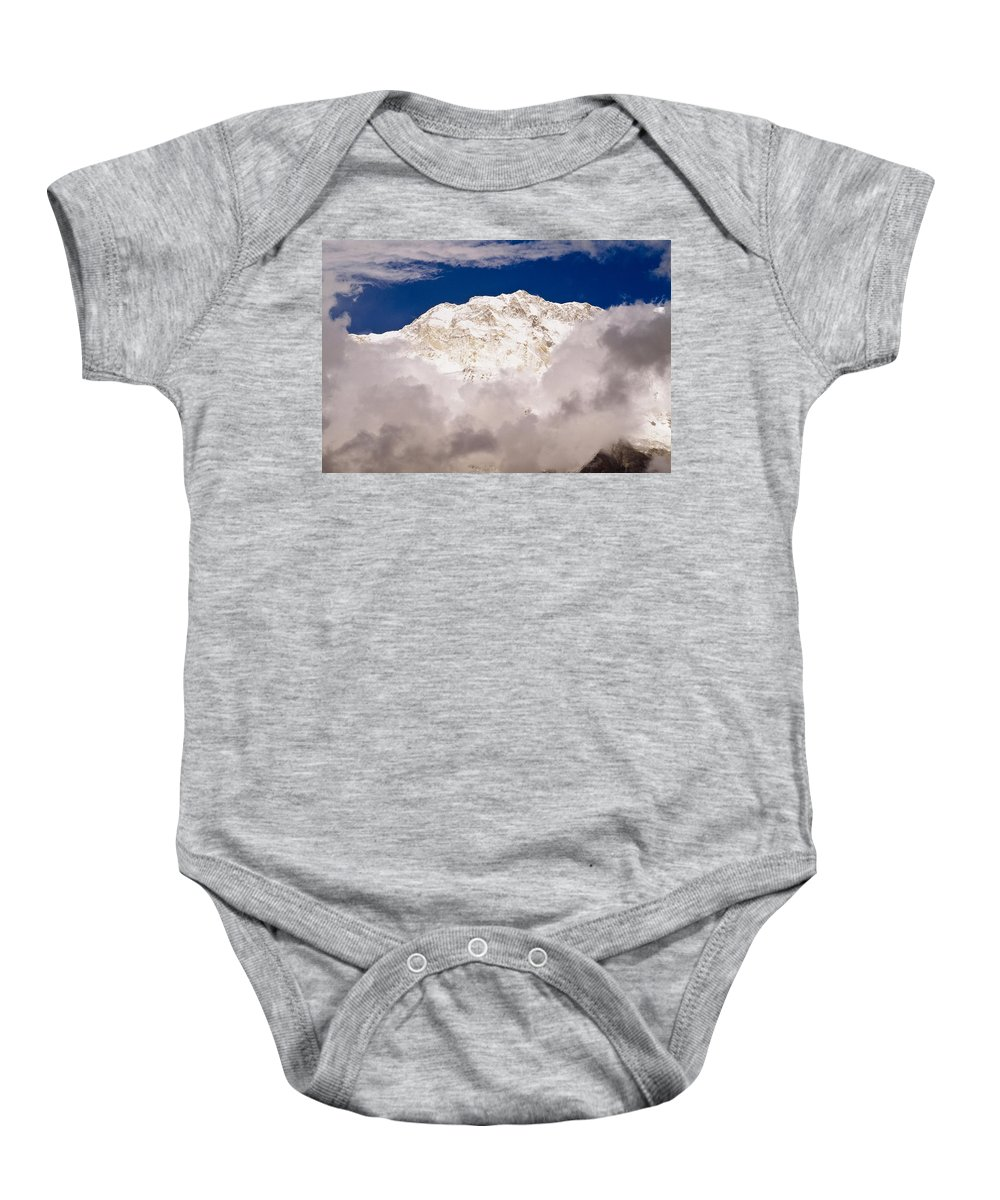 Chilled Baby Onesie featuring the photograph Aerial View Of Mountains, Annapurna by Bilderbuch