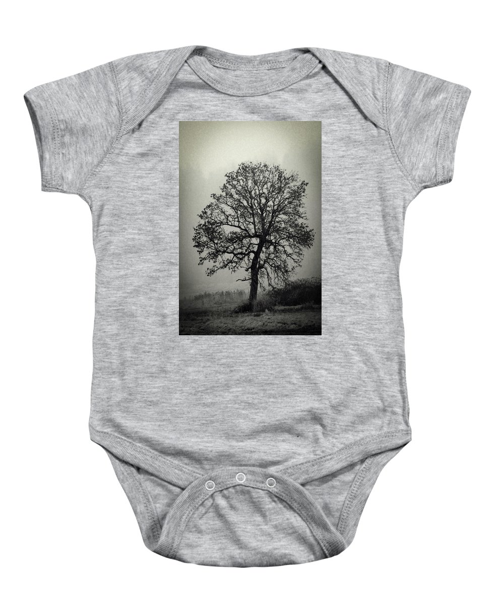 Black And White Baby Onesie featuring the photograph Age Old Tree by Steve McKinzie
