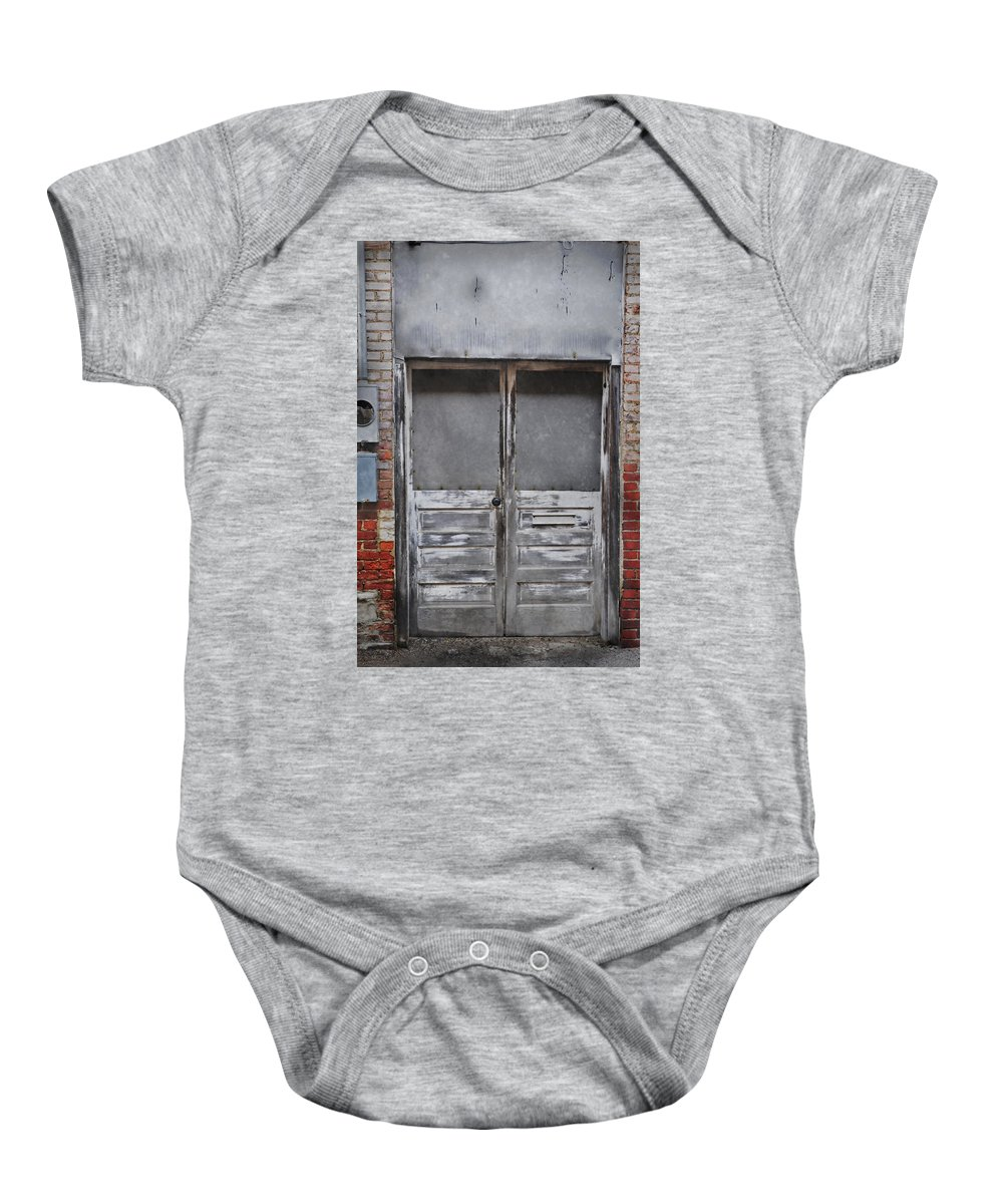 Doors Baby Onesie featuring the photograph Alley Doors by David Arment