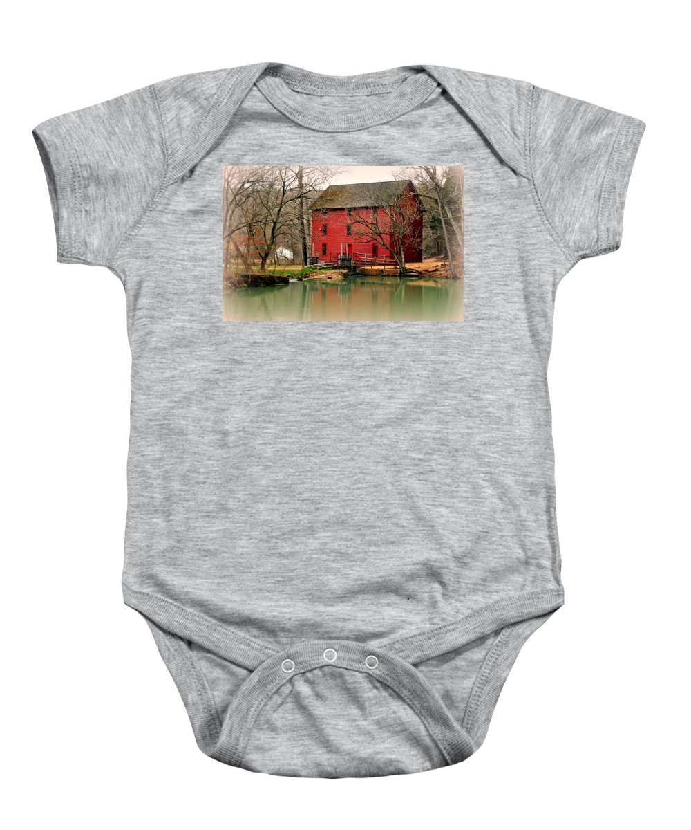 Mill Baby Onesie featuring the photograph Alley Mill 4 by Marty Koch