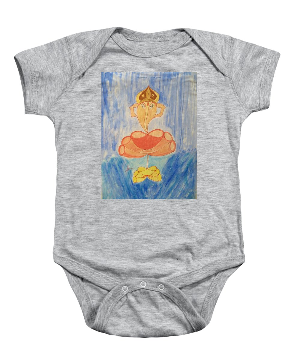 Lord Baby Onesie featuring the painting Almighty by Sonali Gangane