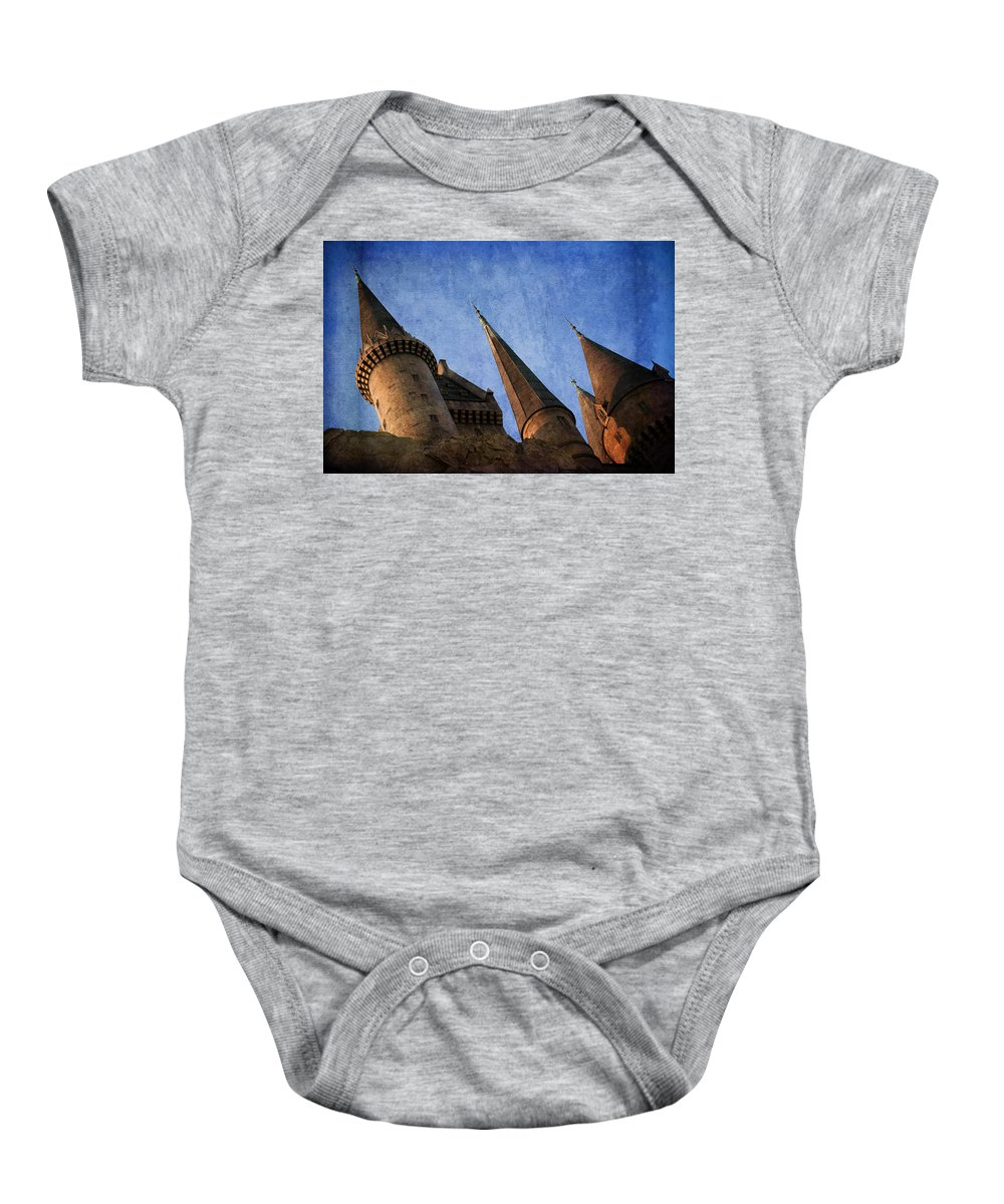 Harry Potter Baby Onesie featuring the photograph Alohomora by Trish Tritz