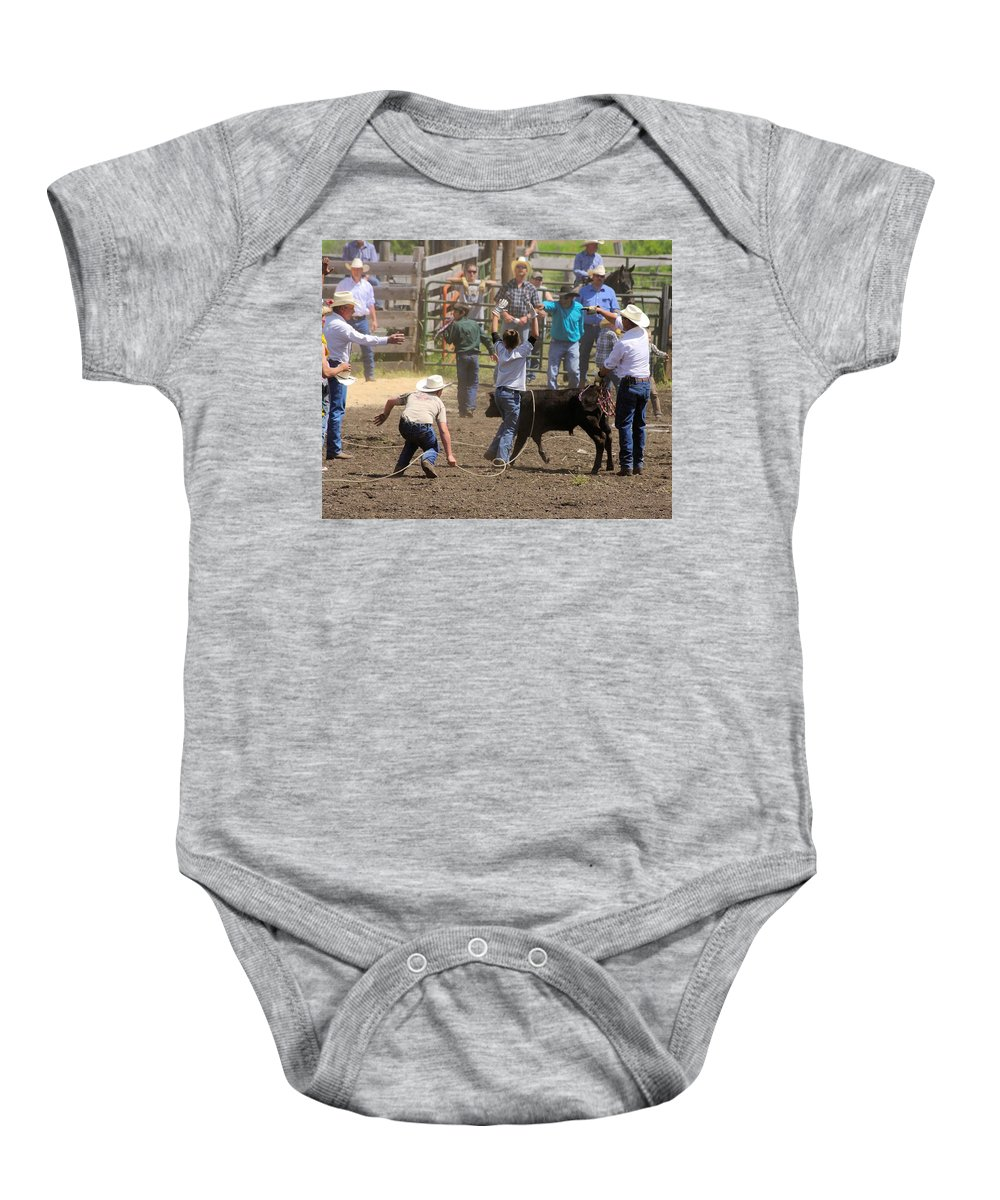 Chesaw Baby Onesie featuring the photograph Alright Success by John Greaves