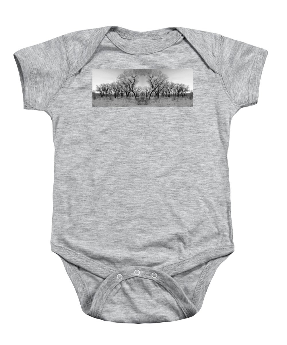 Landscape Baby Onesie featuring the photograph Altered Series - Bare Double by Kathleen Grace