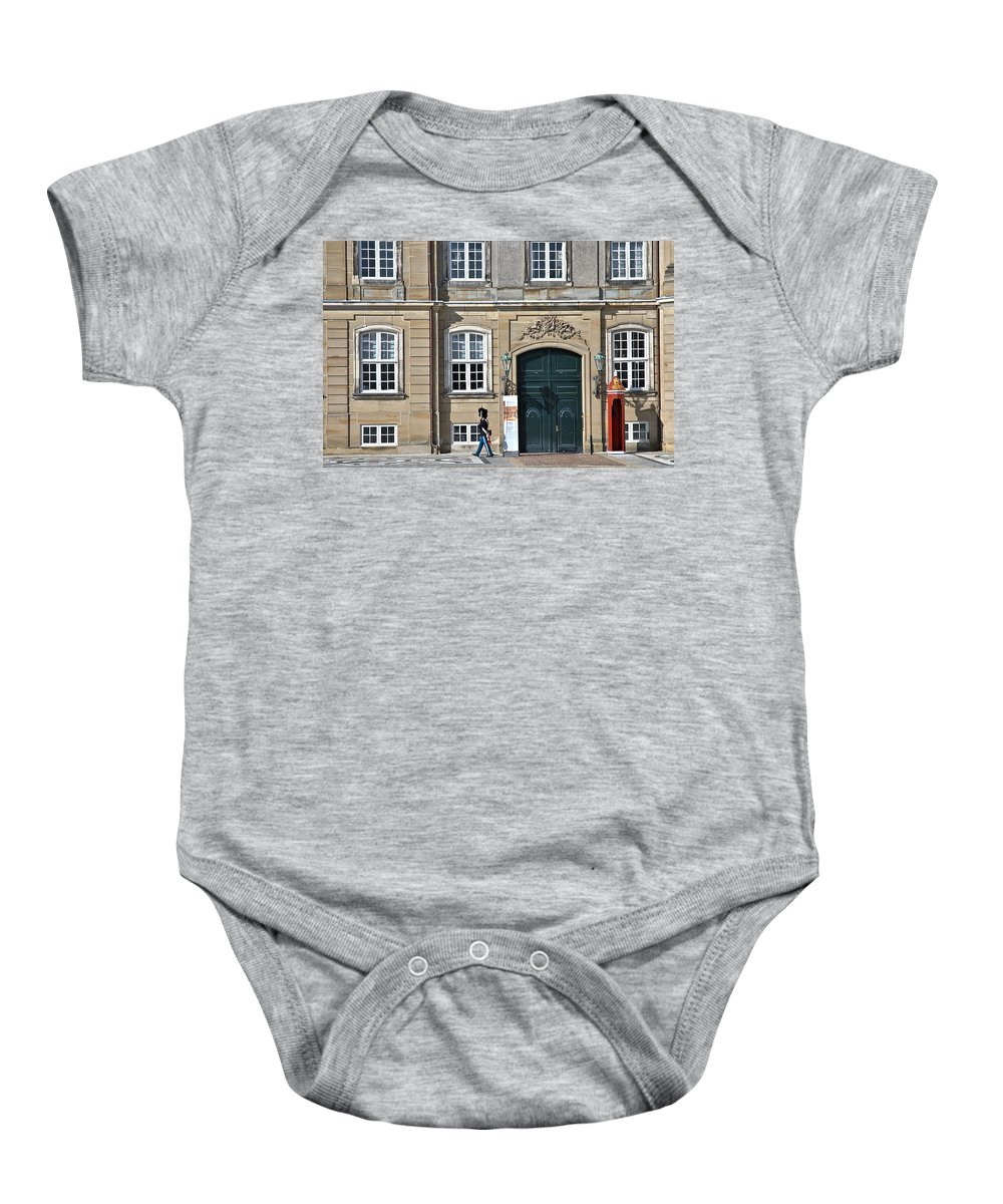 Palace Baby Onesie featuring the photograph Amalienborg Palace by Steven Richman