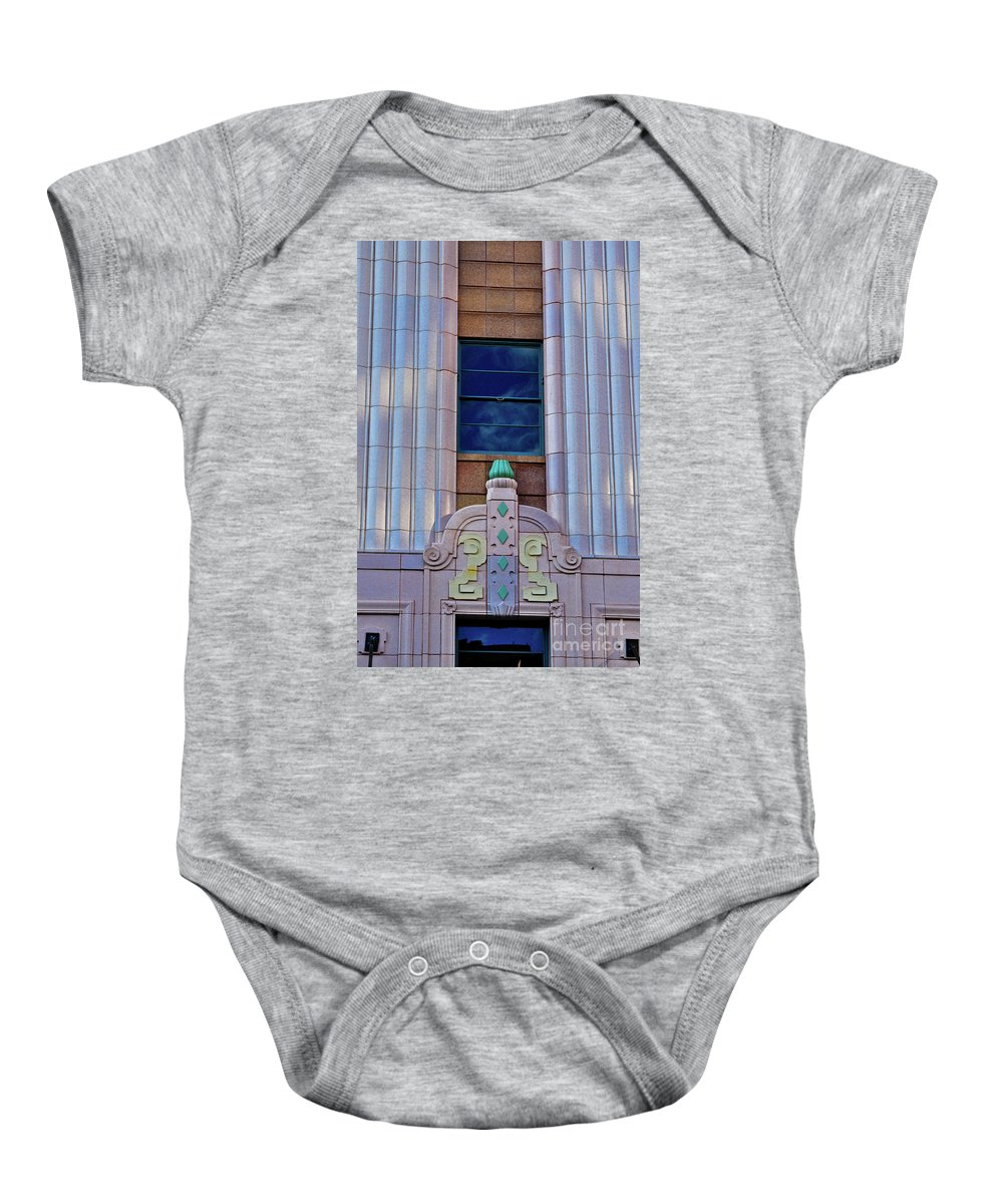 Architecture Baby Onesie featuring the photograph Architectural Study San Antonio Texas by Frances Hattier