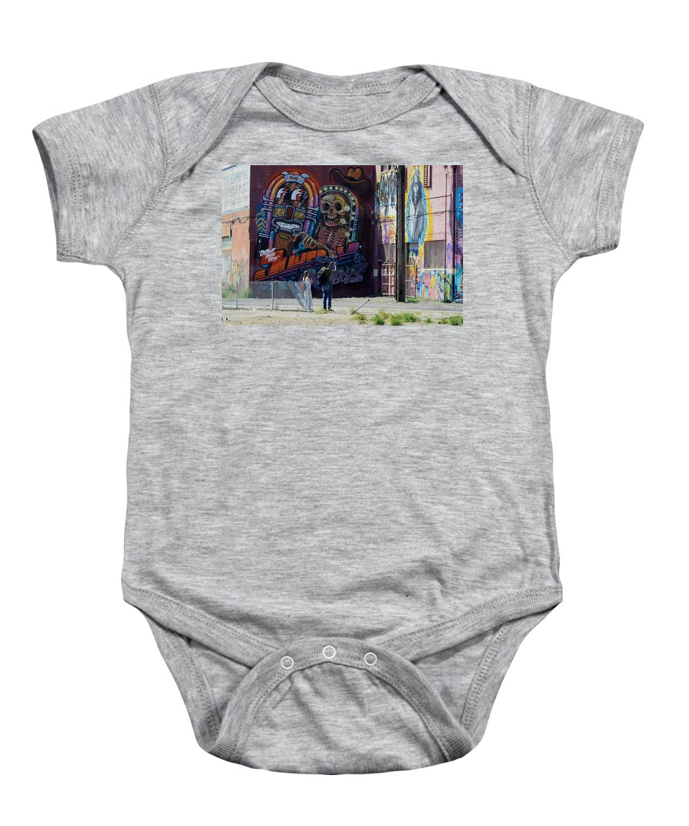 Landscape Baby Onesie featuring the photograph Art Lovers by Dennis Pintoski