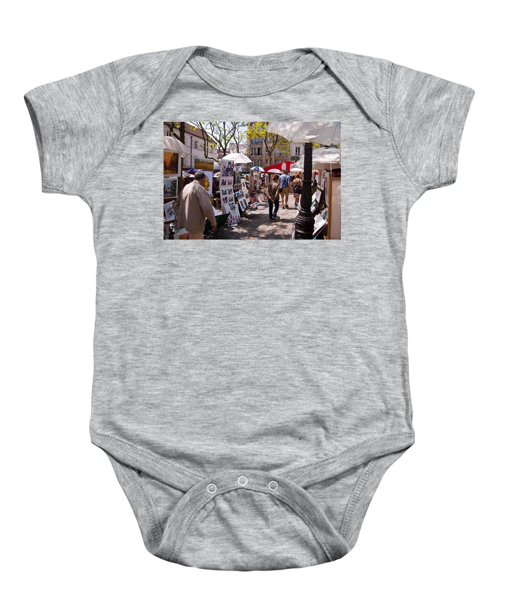 France Baby Onesie featuring the photograph Artist Colony Of Montmartre by Jon Berghoff