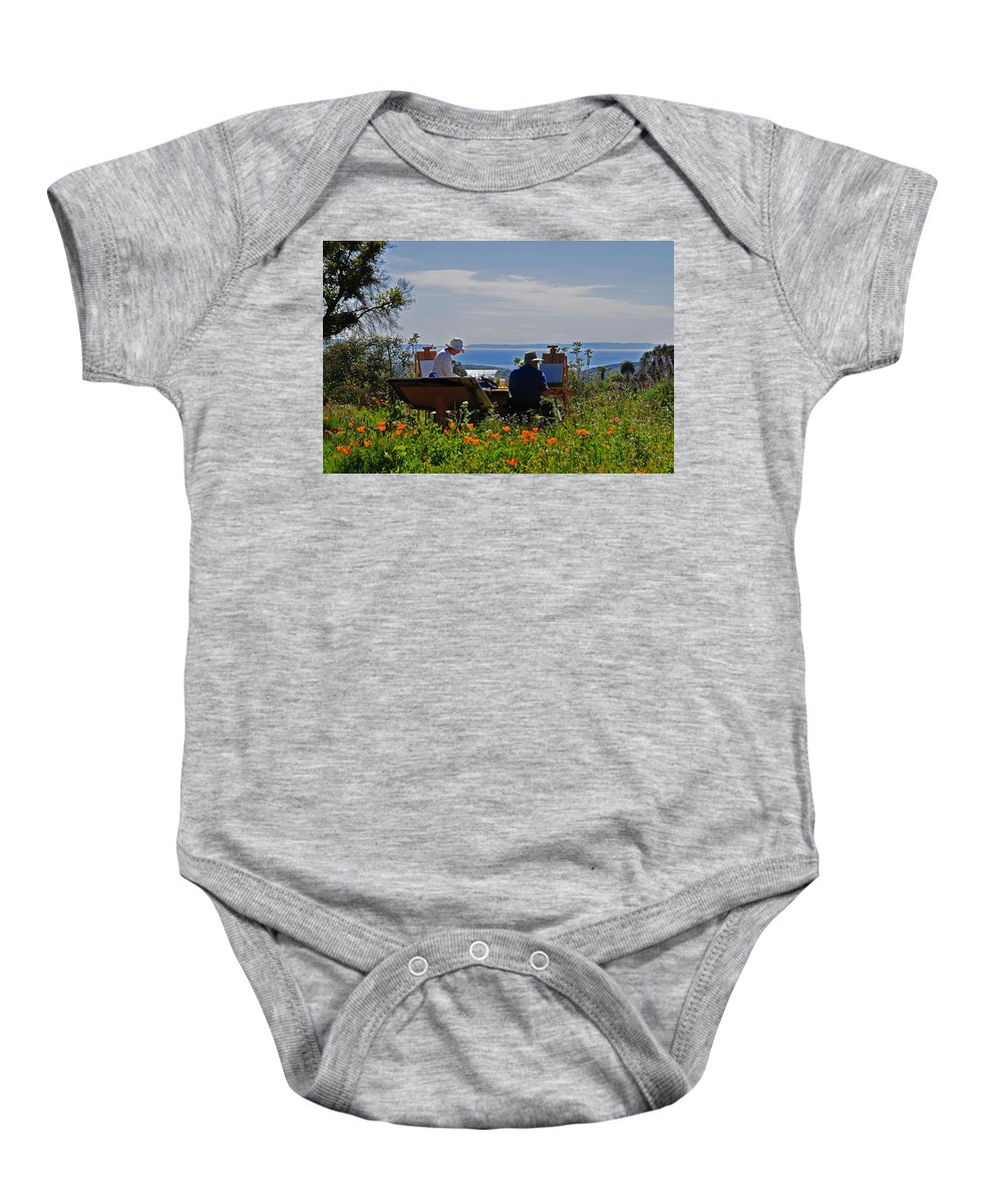 Artists Baby Onesie featuring the photograph Artists At Work by Lynn Bauer