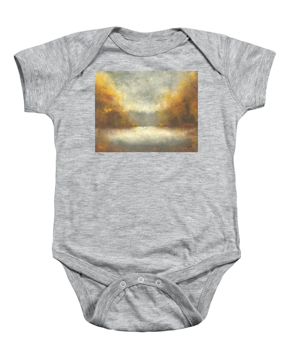 Autumn Baby Onesie featuring the painting Autumn Fog by Garry McMichael
