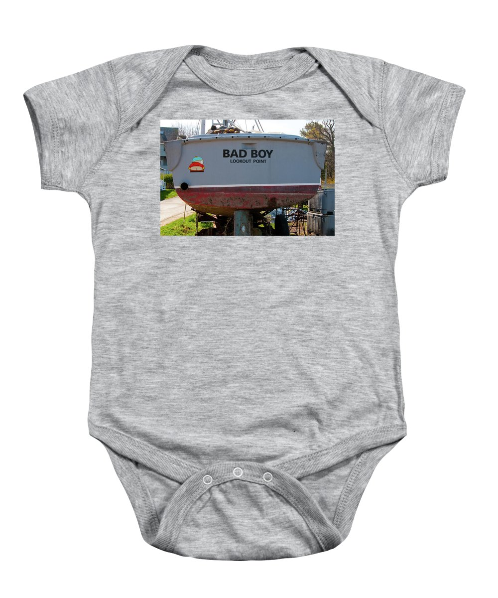 Boats Baby Onesie featuring the photograph Bad Boy 0118 by Guy Whiteley