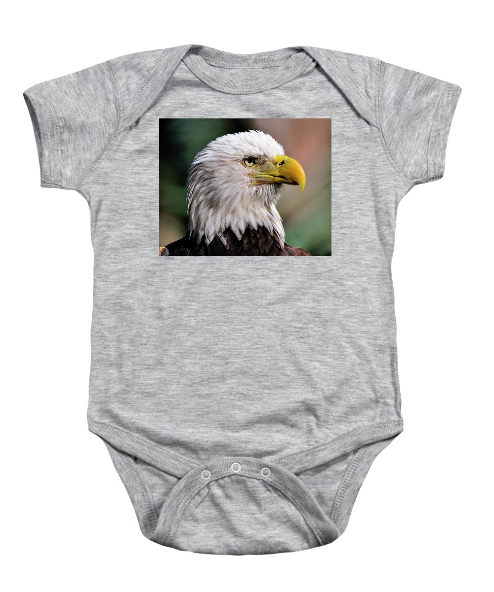 Bald Baby Onesie featuring the photograph Bald Eagle by Bill Dodsworth