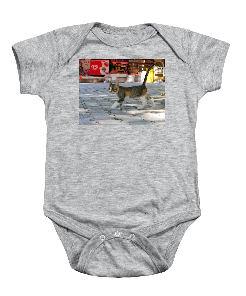 Kitten Baby Onesie featuring the photograph Bargain Hunter by John Chatterley