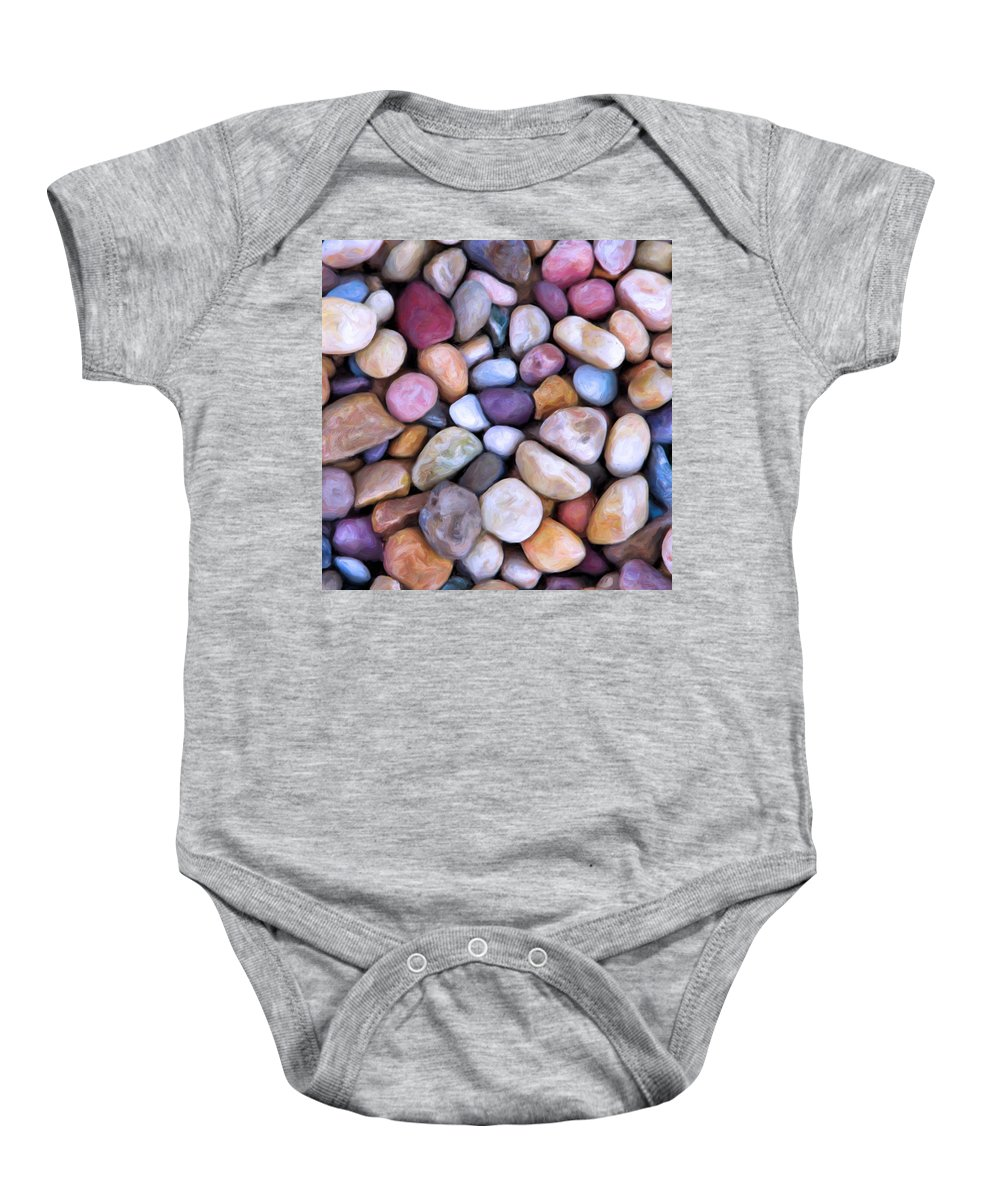 Beach Rocks Baby Onesie featuring the painting Beach Rocks 2 by Dominic Piperata