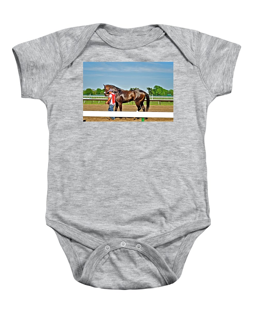 Monmouth Park Baby Onesie featuring the photograph Beautiful Bay by Catherine Conroy