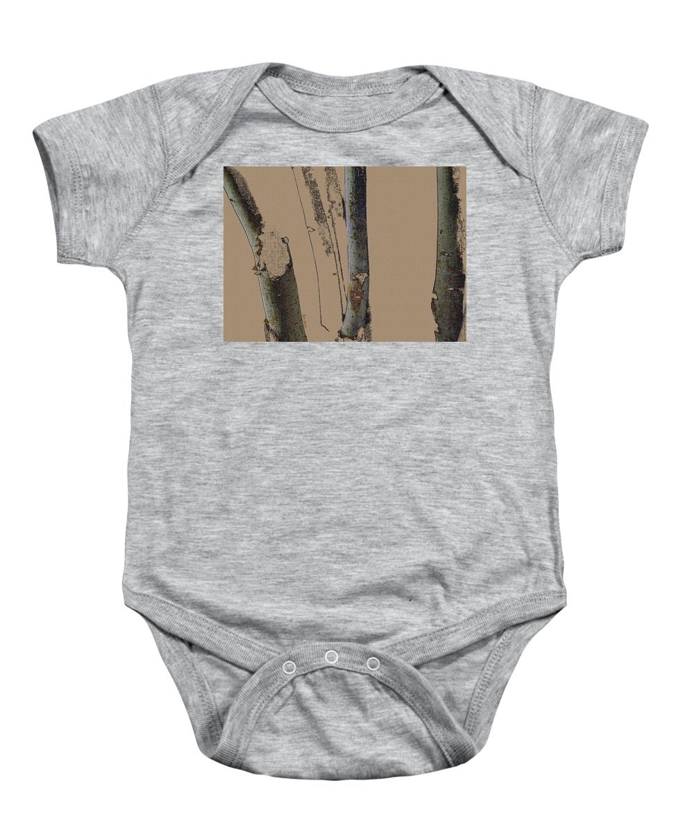 Trees Baby Onesie featuring the digital art Beeches by Ron Jones