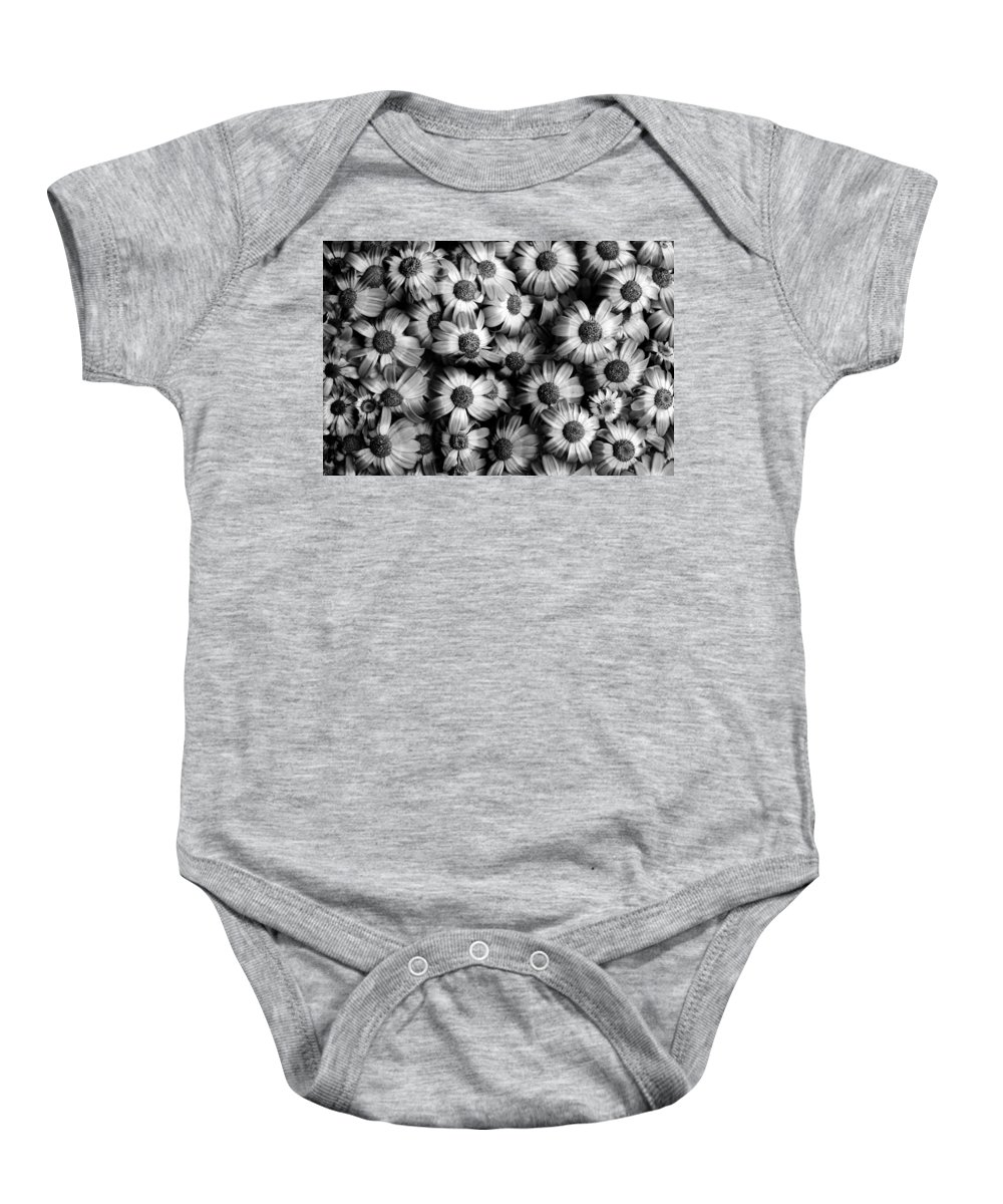 Flowers Baby Onesie featuring the photograph Black And White Flowers by Sumit Mehndiratta
