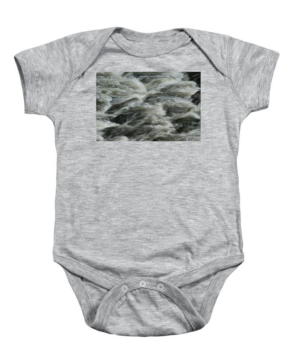 River Baby Onesie featuring the photograph Black Water by Brian Kerls