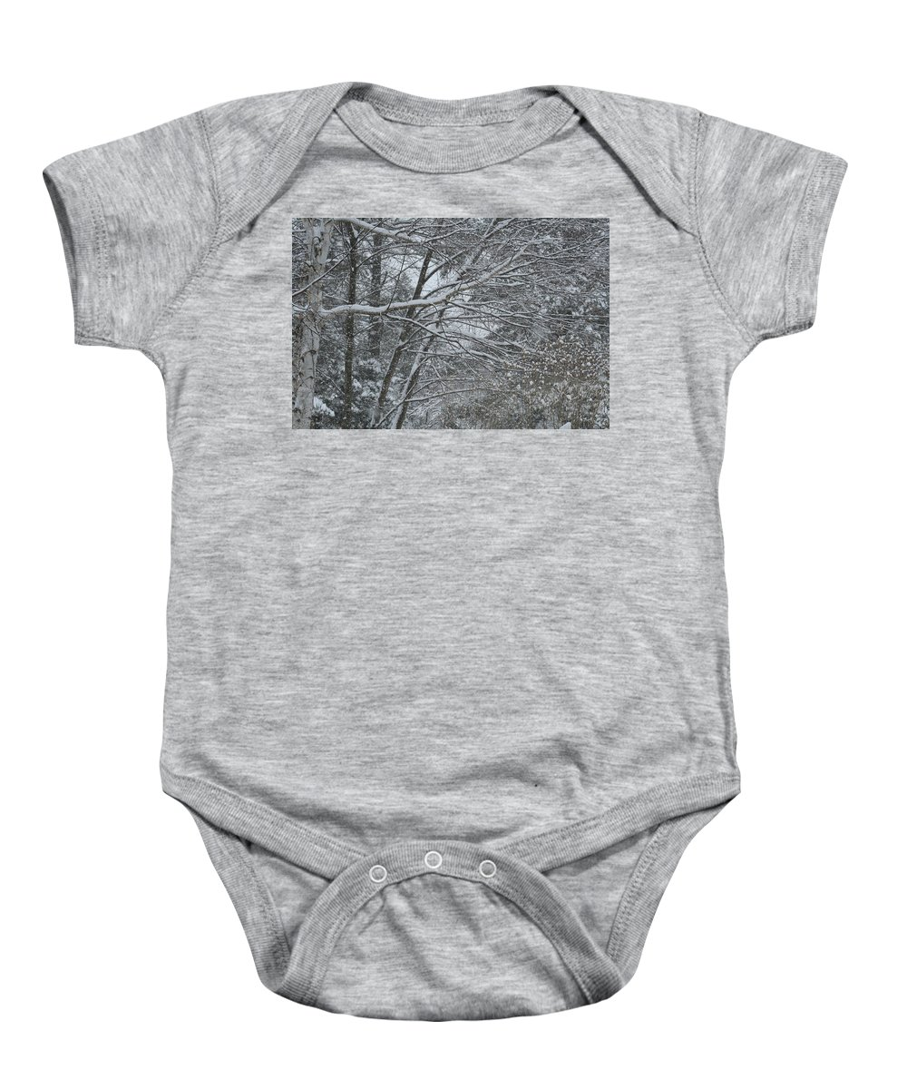 Baby Onesie featuring the photograph Blizzard by Barbara S Nickerson