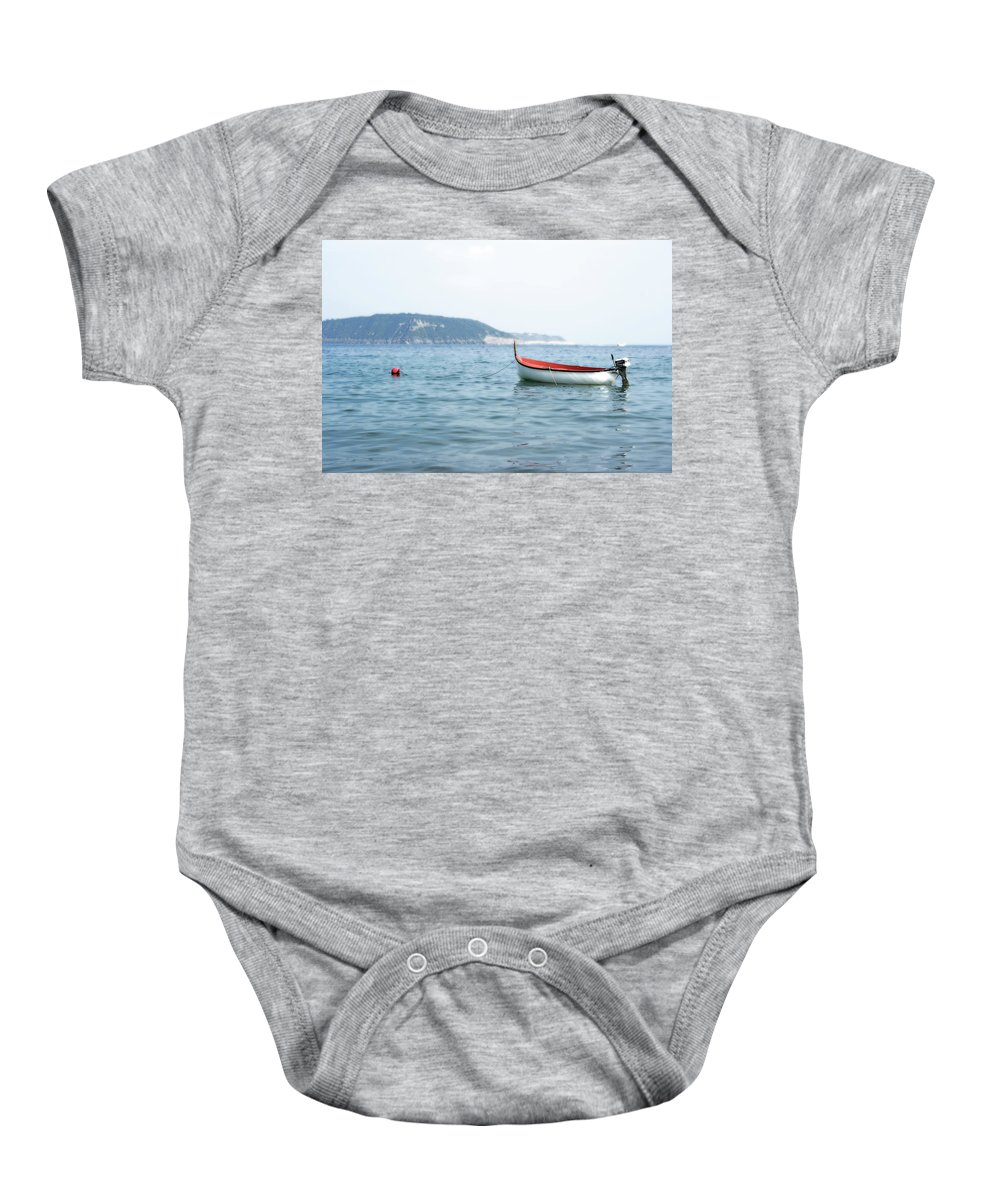 Boat Baby Onesie featuring the photograph Boat In The Water by La Dolce Vita