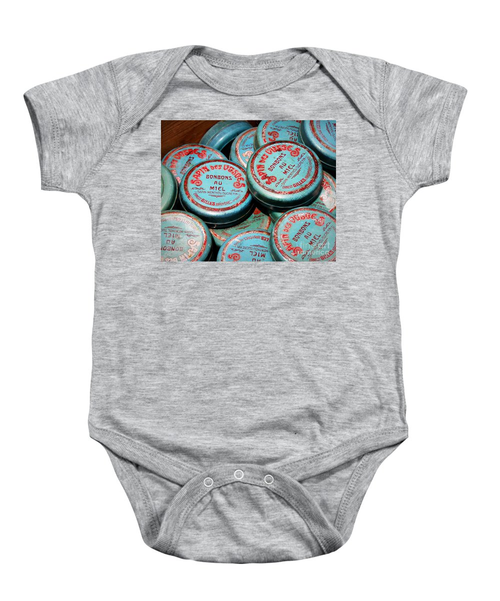 Bonbons Baby Onesie featuring the photograph Bonbons Au Miel by Lainie Wrightson