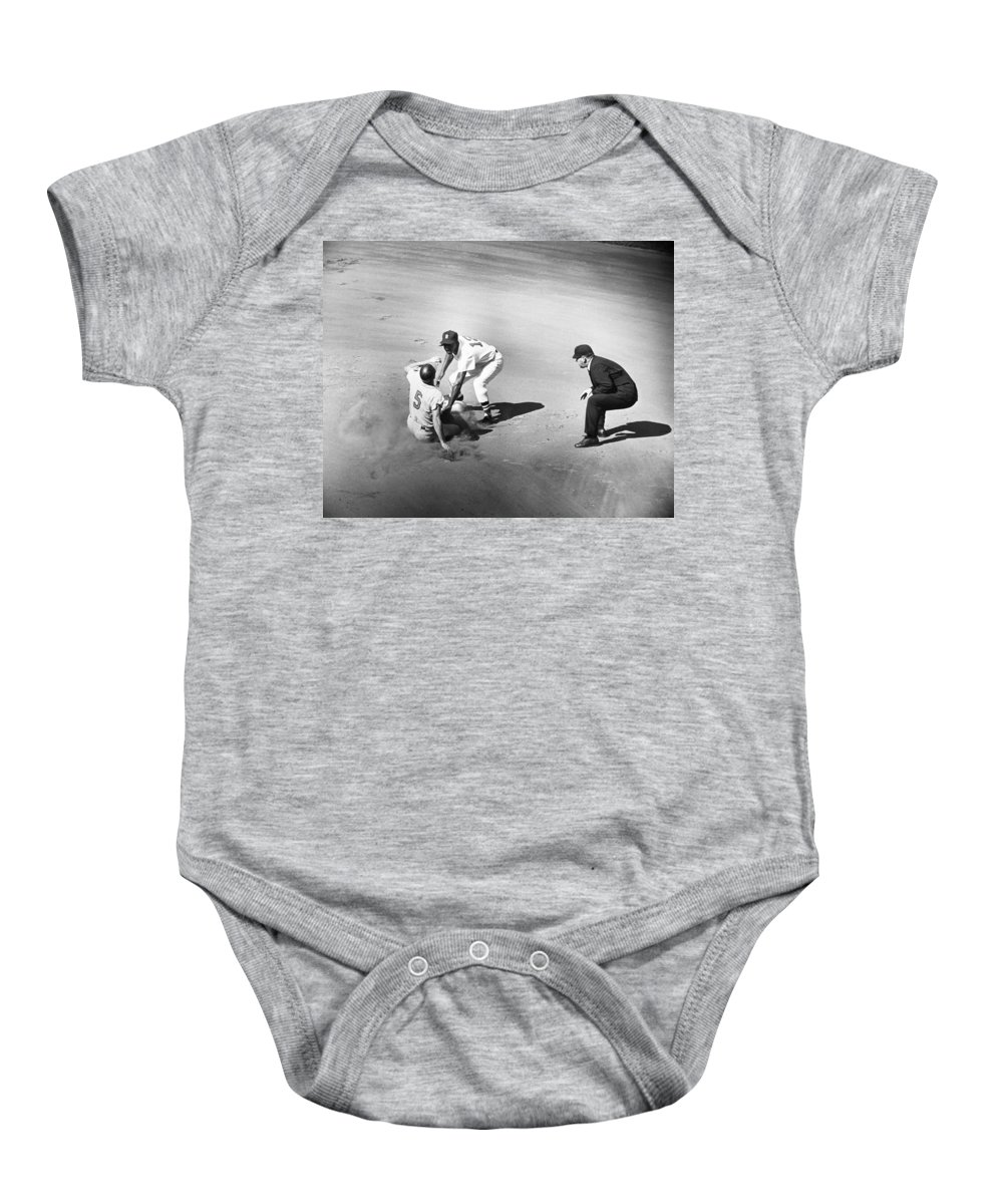 1961 Baby Onesie featuring the photograph Boston: Baseball Game, 1961 by Granger