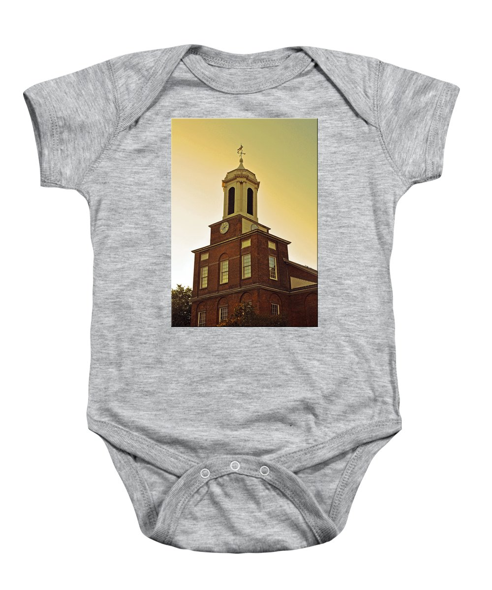 Boston Baby Onesie featuring the photograph Boston Church by Brittany Horton