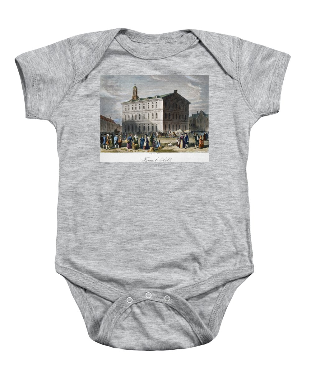 1776 Baby Onesie featuring the photograph Boston: Faneuil Hall, 1776 by Granger