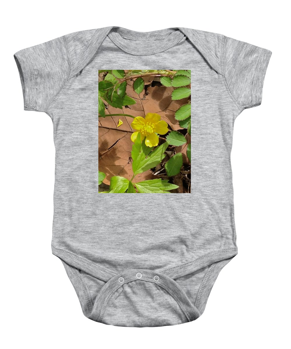 Michigan Stream Baby Onesie featuring the photograph Bright Spring by Joseph Yarbrough