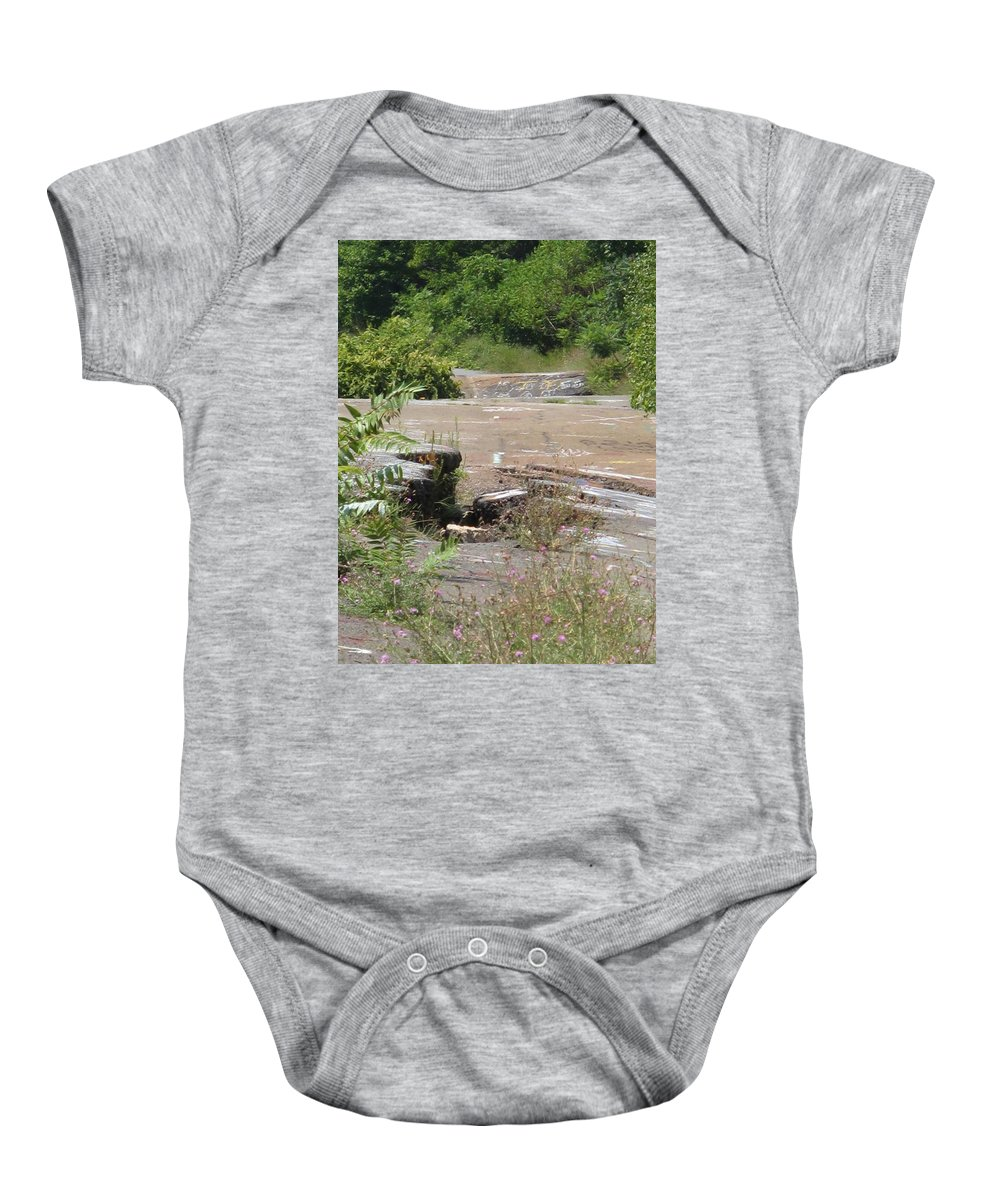 Centralia Pa Baby Onesie featuring the photograph Broken Road Broken Dreams by Michele Nelson