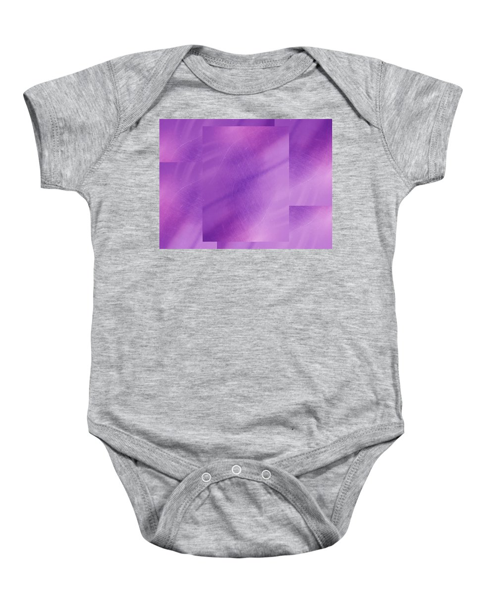 Abstract Baby Onesie featuring the digital art Brushed Purple Violet 1 by Tim Allen