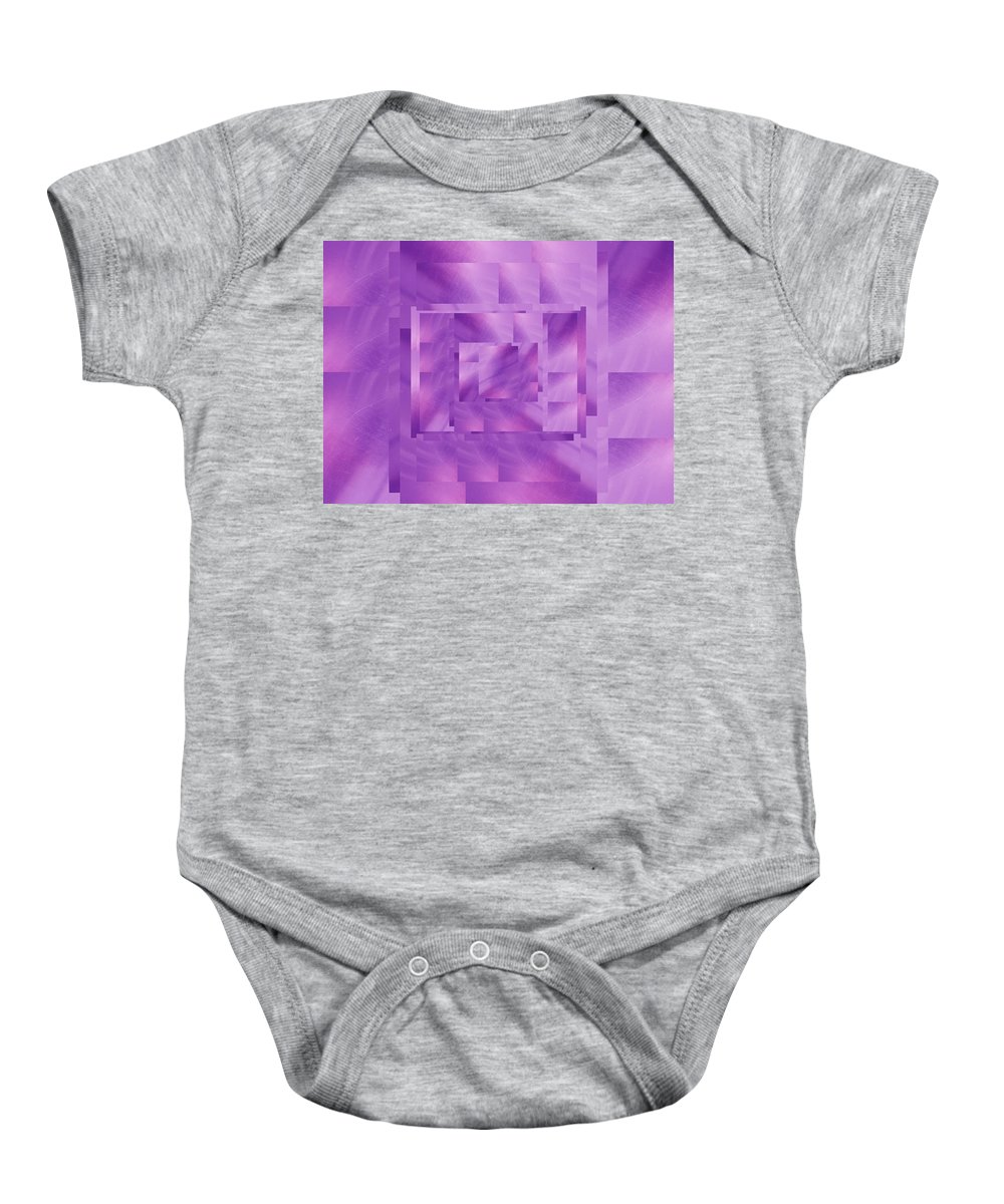 Abstract Baby Onesie featuring the digital art Brushed Purple Violet 11 by Tim Allen