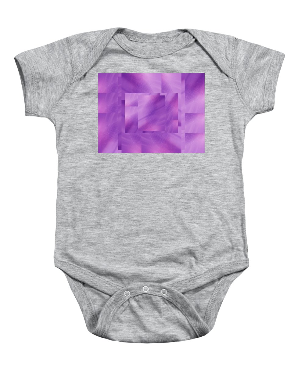 Abstract Baby Onesie featuring the digital art Brushed Purple Violet 2 by Tim Allen