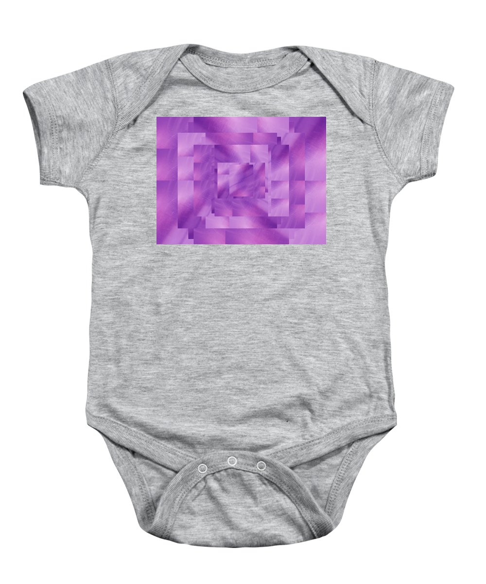 Abstract Baby Onesie featuring the digital art Brushed Purple Violet 4 by Tim Allen