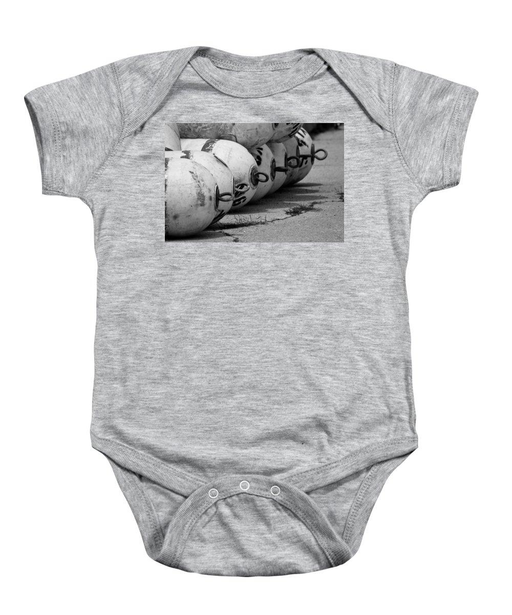 Buoys Baby Onesie featuring the photograph Buoys by Lauri Novak